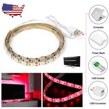 3ft usb strip string lamp light tent light outdoor hiking camping red color