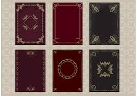 old book cover vectors