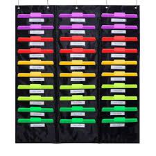 Hanging Pocket Chart Godery School Pocket Chart 30 Signatory Pocket Heavy Duty Hanging File Folders Pocket Chart Cascading Organizer 5 Hangers