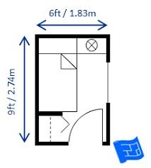 Small bedroom design for a single bed - 6.5ft x 9ft. This room is