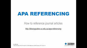 Apa Referencing Journal Articles