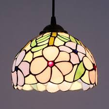 stained glass plum blossom hanging