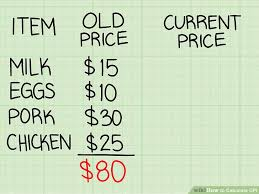 projected inflation calculator 2 easy ways to calculate cpi with pictures wikihow