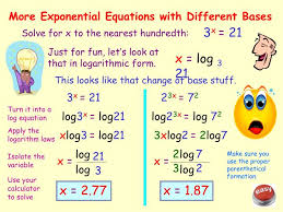 more exponential equations with diffe bases