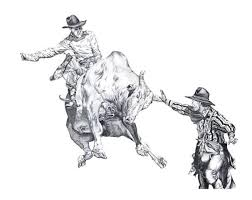 Small Picture Bull Riding Drawings Dorris Designs Other Bucking Hunger