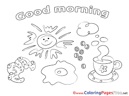 Free Good Morning Coloring Pages Printablel