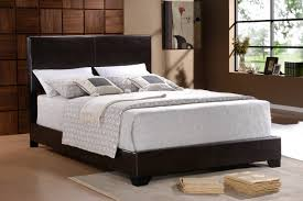 5271-M-SET ERIN BLACK LEATHER BED FRAME MATTRESS AND BOXSPRING ...