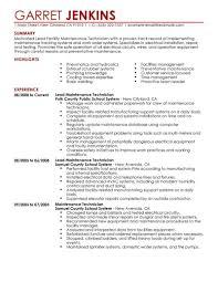 Hotel Maintenance Engineer Sample Resume 4 Resume Templates Hotel