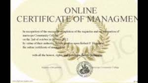 Sample Online Degree Certificates Youtube