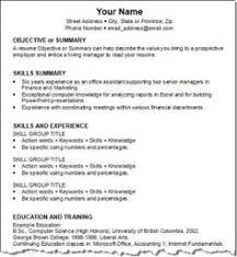resume format for job interview pdf