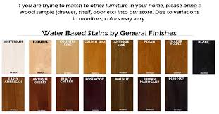 Saman Water Based Stain Color Chart Water Based Stain Colors Saman Wood Stain Saman Interior