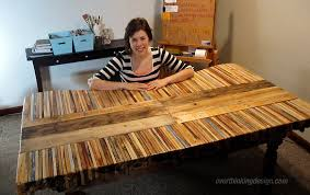 diy pallet table top. finished pallet table diy top y