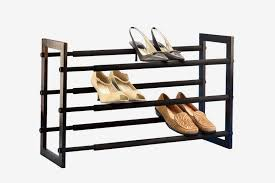 the container walnut 3 tier grippy shoe rack