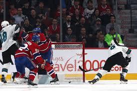 Montreal Canadiens Goal Light San Jose Sharks At Montreal Canadiens Recap Score The