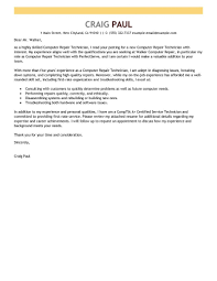 Tech Cover Letter Computer Support Technician Resume Help Desk Cover