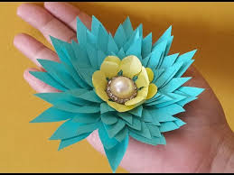 Make Easy Paper Flower Simple Paper Flower Making For Your Home Decoration