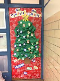Classroom Door Designs For Christmas Science Christmas Classroom Christmas Door Periodic Table