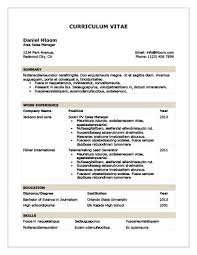 Traditional Table Resume Template