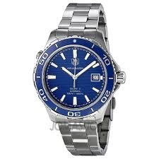 tag heuer aquaracer calibre 5 blue dial stainless steel automatic tag heuer aquaracer calibre 5 blue dial stainless steel automatic men s watch