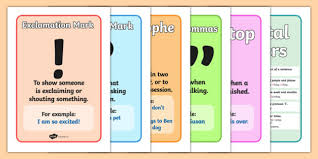 Class 4 Punctuation English Square