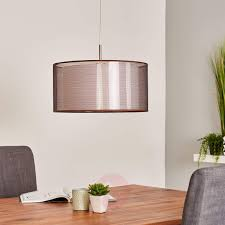 Pendelleuchte Nica Textil Hängelampe Schlafzimmer E27 Lampenwelt Doppelschirm