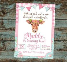 moo invitations farm birthday invitations elegant 21 best farm baby shower