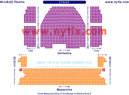 theatre seating chart for minskoff broadway theatre