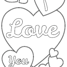 Love You Coloring Pages I Quotes For Him Tipbackco
