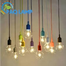 chandeliers led light bulbs lights socket chandelier lamp led light fixture hanging color line silicone holder