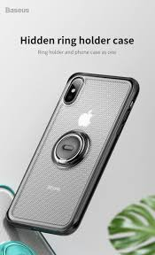 <b>Baseus</b> Creative <b>Phone Case For</b> iPhone Xs with Ring Holder Stand ...