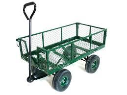 4 wheel garden cart green blade large 4 wheel garden cart trolley with fold down sides