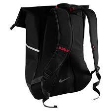 lebron bag. nba lebron james ambassador backpack - black/red 2 bag