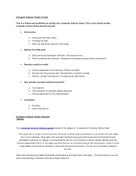 computer science thesis format
