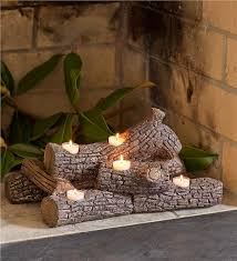 main image for logs hearth candle holder