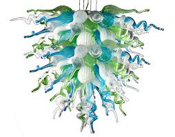 viz glass large ocean mist chandelier
