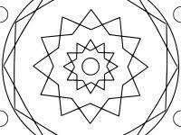 Mandala With Hexagon And Circles Coloring Page Free Printable Best