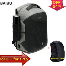"BAIBU <b>Men Multifunction</b> Backpack Anti theft 15.6"" Laptop Backpack ..."