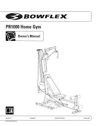 Bowflex Pr3000 Workout Chart Crunch P1000 1 Owner S Manual Manualzz Com