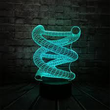 Home Led Mood Lighting Us 8 38 16 Off 2018 Rgb 3d Dna Usb Led Lamp Multicolor Change Night Light Home Decorative Bulb Mood Lights Illusion Bedroom Gift Doctor Prop Rc In