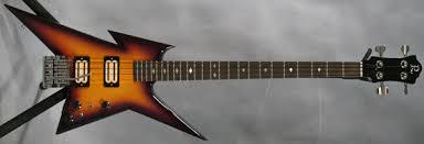 custom ironbird b from original bc rich body core gorgeous burst finish tremolo tail