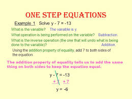 9 one step equations example 1 solve