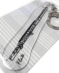 管楽器 クリアキーホルダー フルート 日本製 アクセサリー 吹奏楽 楽器