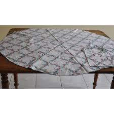 small round vintage tablecloth cotton fl pattern 4 napkins