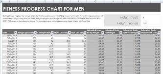 Men S Body Fat Chart Fitness And Weight Loss Chart For Men And Women Formal Word Templates