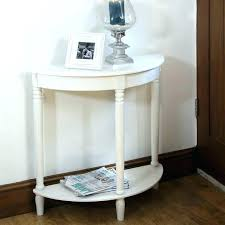 architecture the oxford grey half moon console table with drawer and shelf inside small half