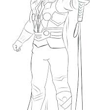 Thor Coloring Pages Free Printable Coloring Pages Thor Avengers
