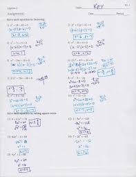 solving quadratic equations factoring worksheet answers worksheets