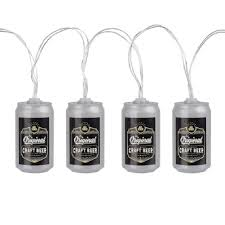 Man Cave String Lights Wembley Beer Can String Lights Man Cave 10 Battery Powered