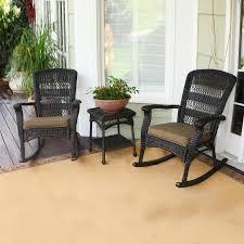 tortuga outdoor portside 3 piece wicker frame patio conversation set with dark khaki cushions