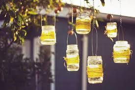 Outdoor diy mason jar lights